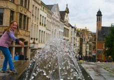Brussels Scrapbook – Eating a Belgian Waffle in Belgium