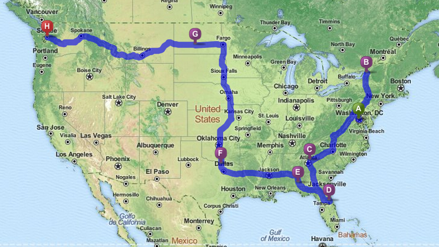 In Search Of The Most Patriotic Town In America BestOfTheRoad - Us map best roadtrip map