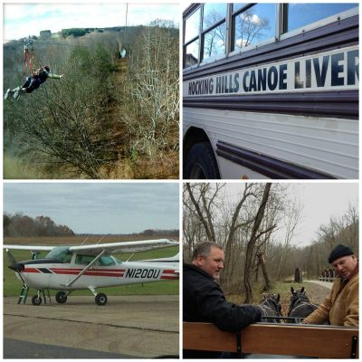 Ziplining, Fly above the canopy, canoe, carriage ride