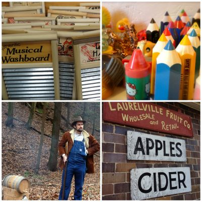 washboard factory, pencil sharpener museum. historical reenactments at the state park, apple cider slushies