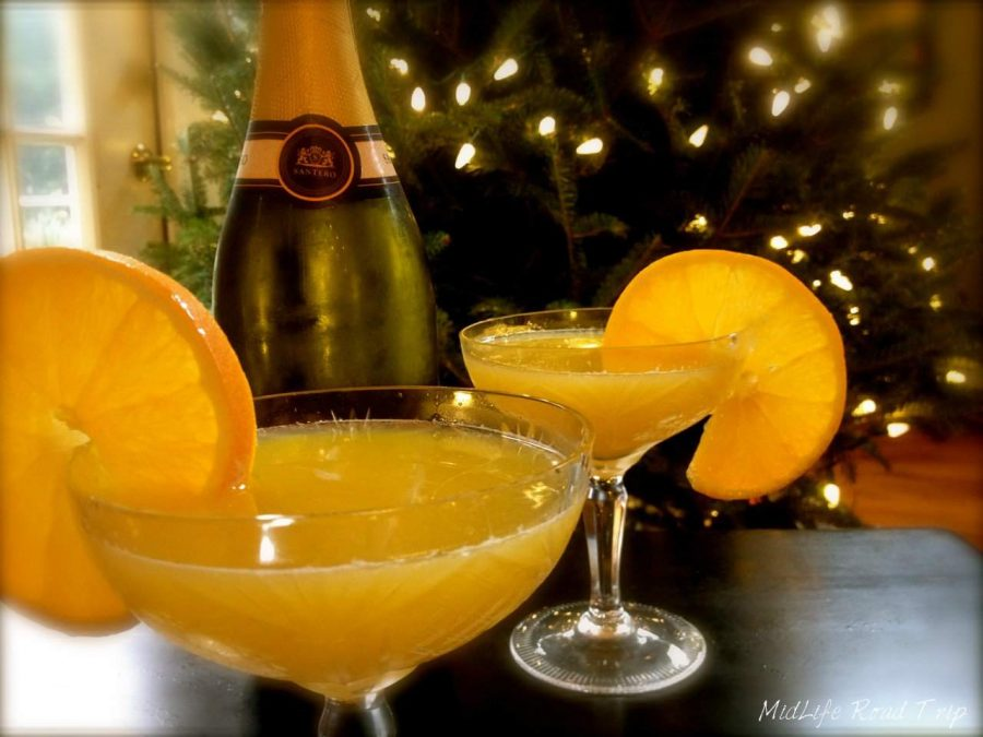 Raising a glass of Emeril's Champagne Punch to you! #sundaysupper