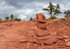 sedona arizona stacked rocks
