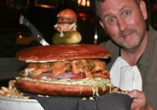 OMG An Eight Pound Cheeseburger!