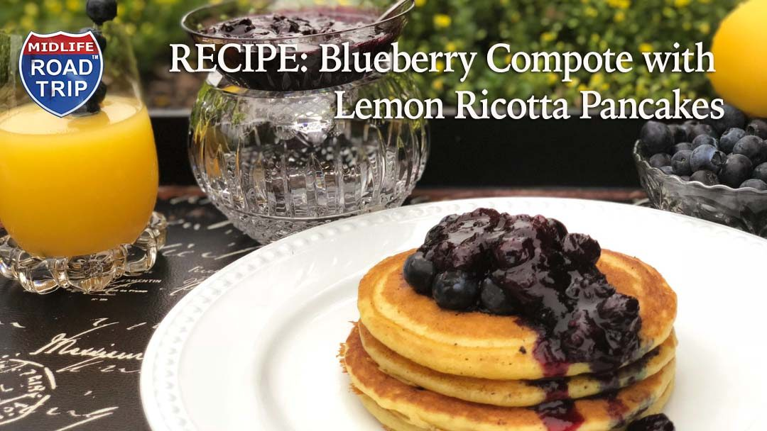 Blueberry Compote with Lemon Ricotta Pancakes